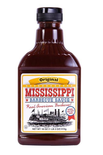 Mississippi BBQ Sauce Original 510g