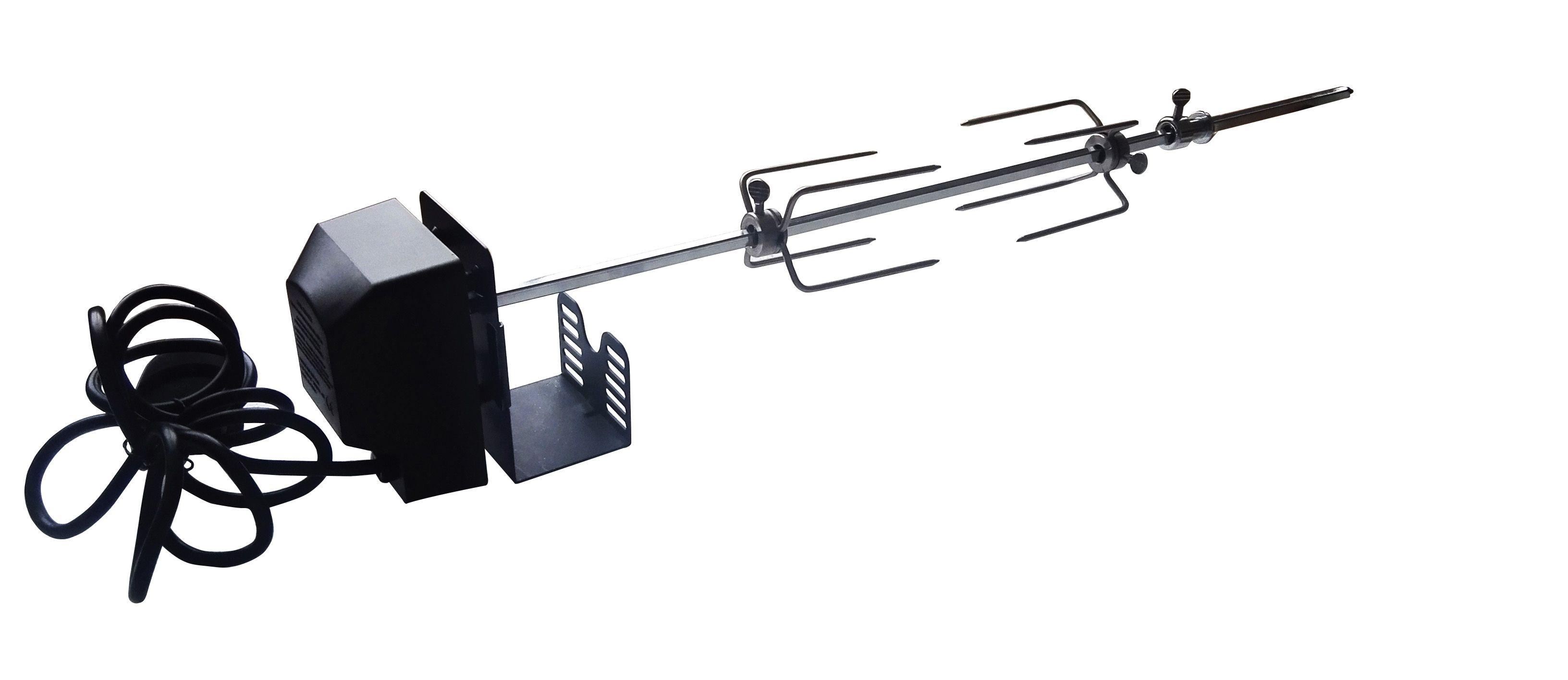 Drehspießkit (Spieß, Gabeln und Motor)