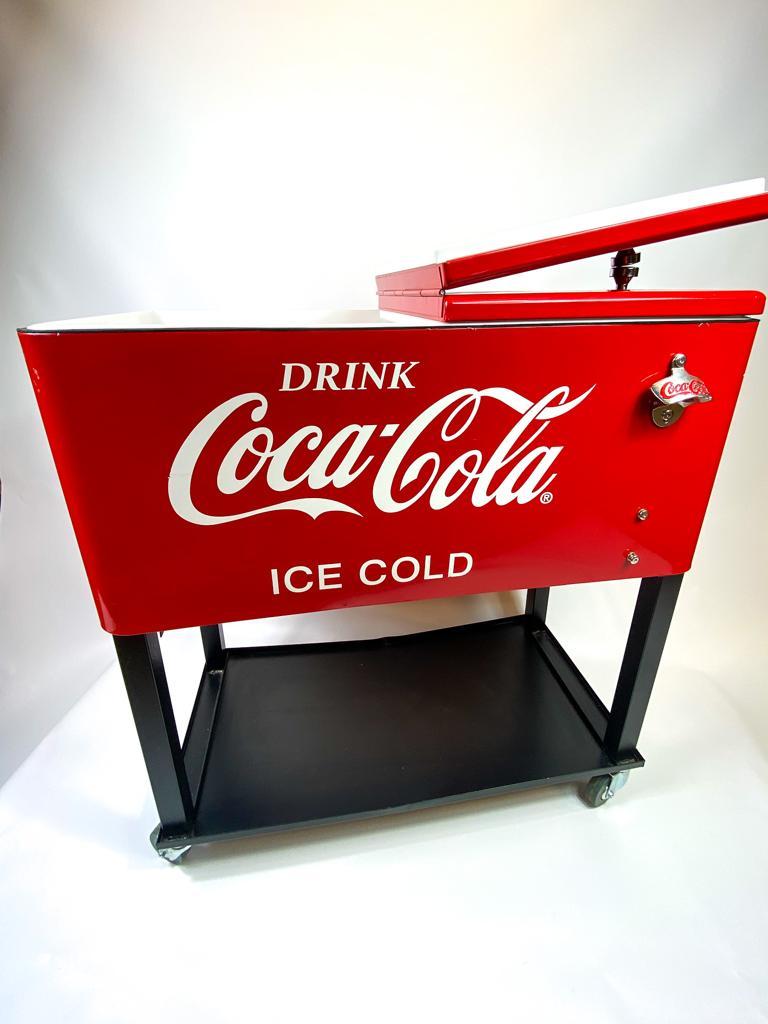 CocaCola Retro Ice-Cooler Getränkewagen