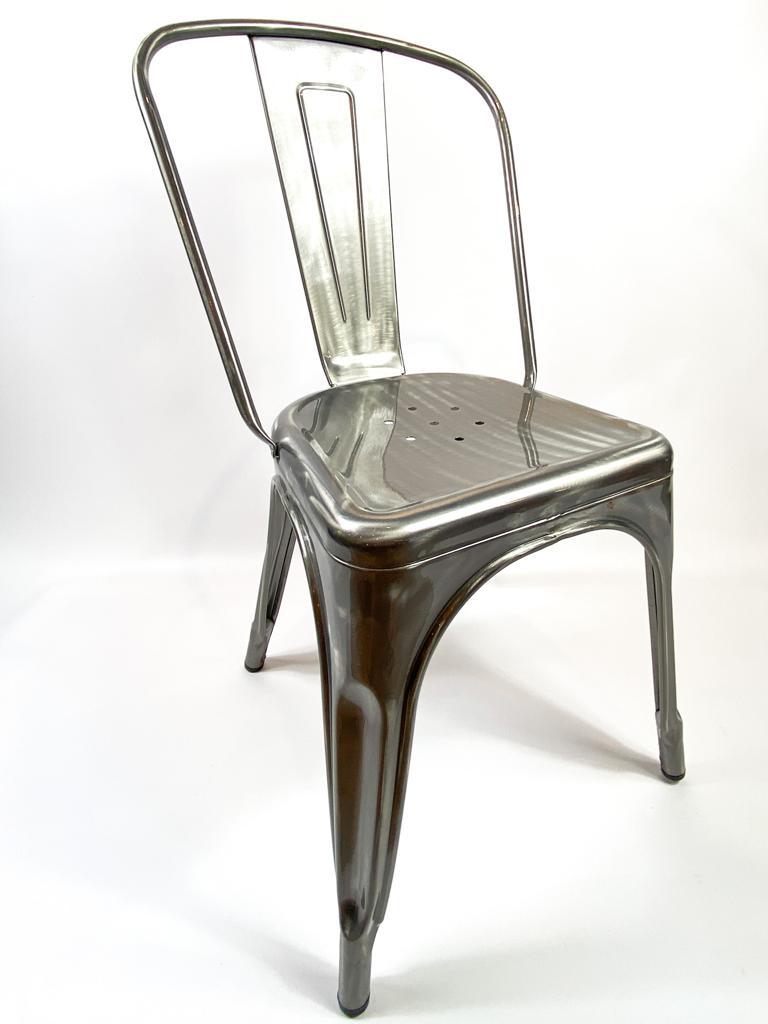 Leih-Vintage-Tolix-Metallsessel mit Lehne, für Garten/Partys, div. Farben