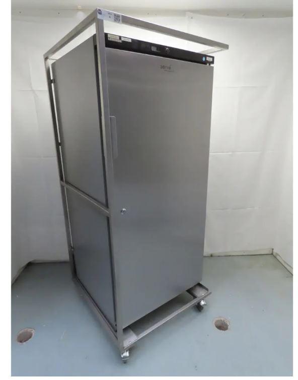 Farbarer Getränke- Kühlschrank, mit Glastür Edelstahl