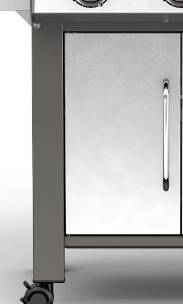 Linke Tür für Genesis II S-640 LX, Edelstahl