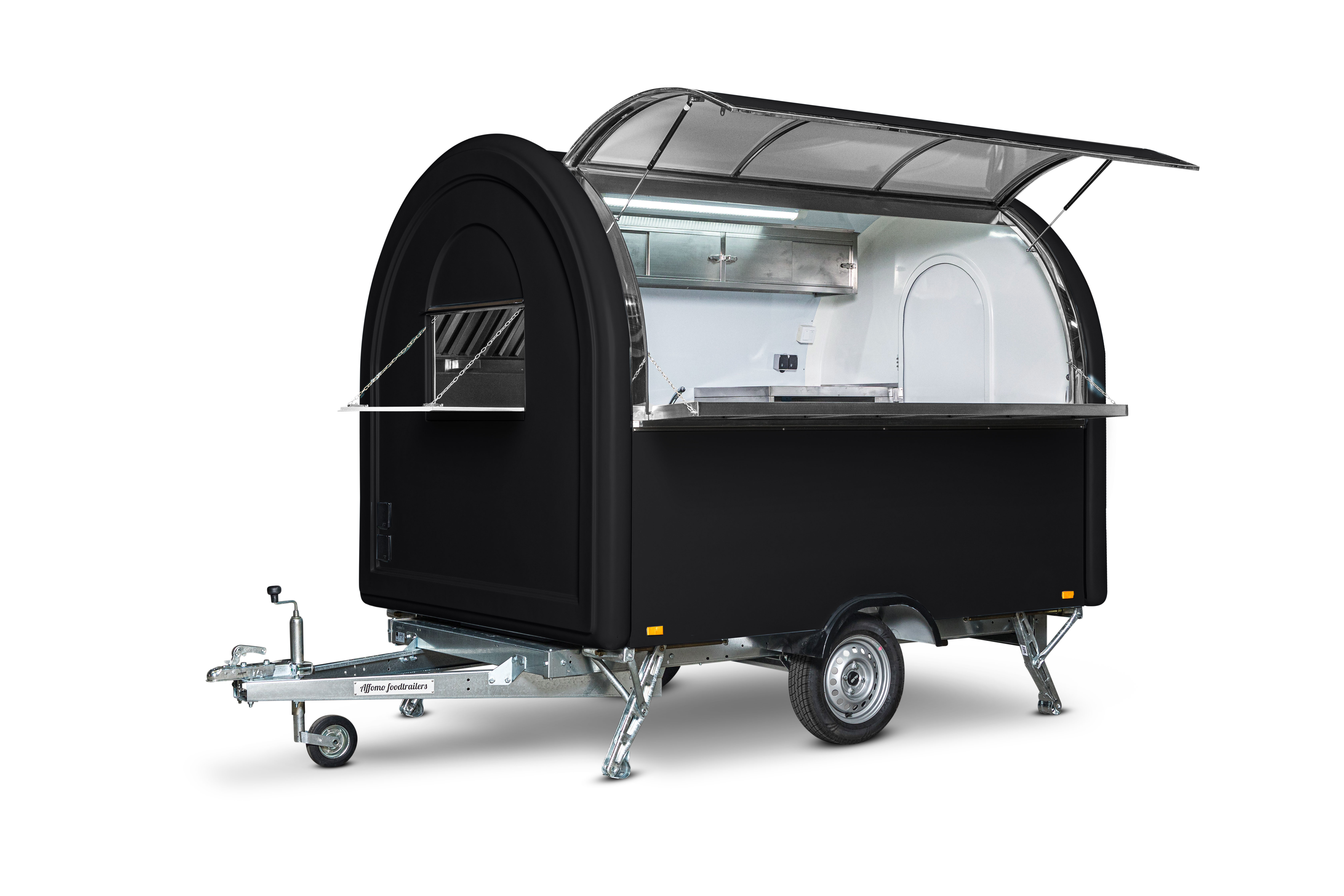 Leih- Party-Foodtruck/Verkaufswagen, schwarz