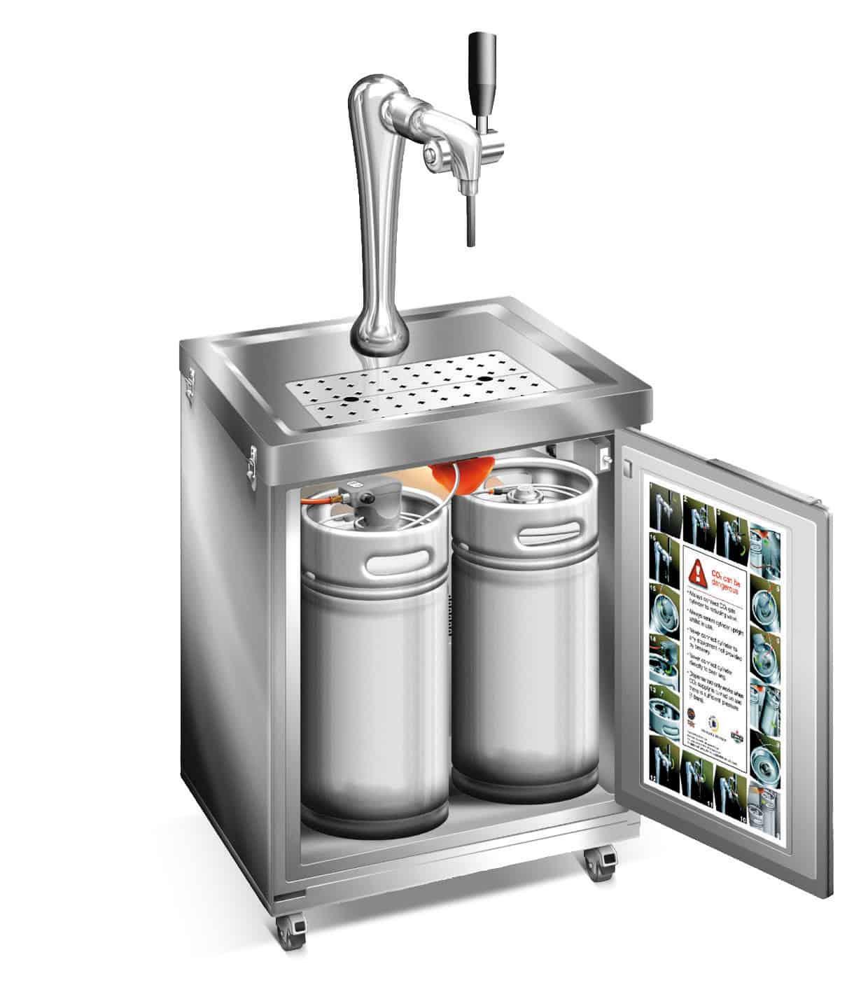 Leih-Party Bierzapfmobil David mit einem Zapfhahn für 20L Bier ohne Fass
