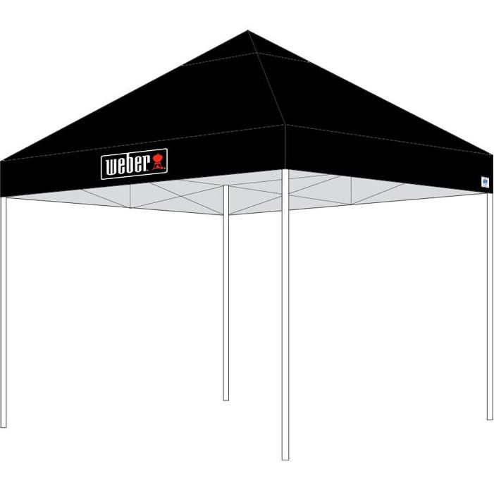 Leih-Party-Zelte/Pagoden schwarz 3x3m