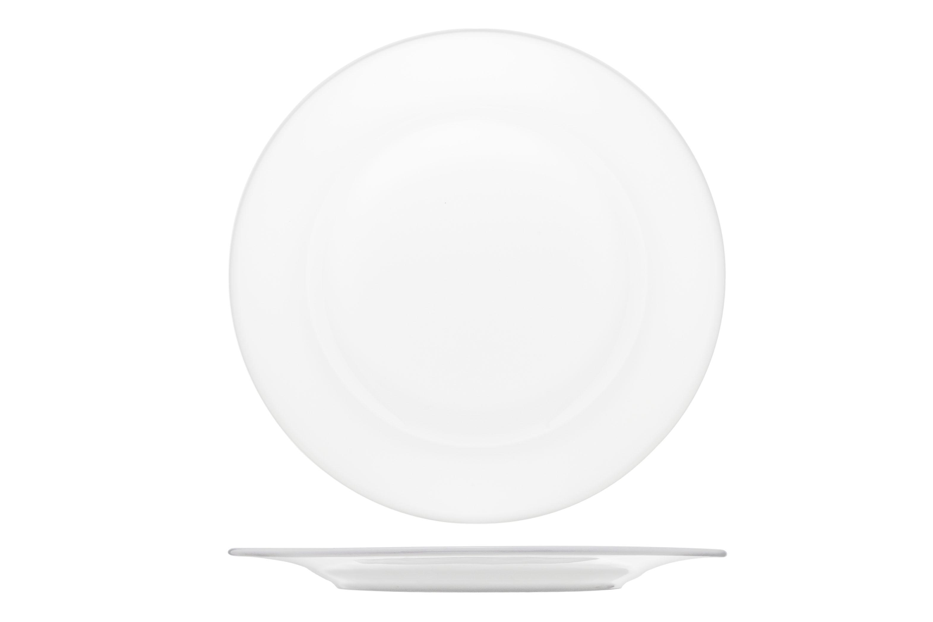 Leih-Party-Vorspeissenteller ø 18cm Weiß Porzellan