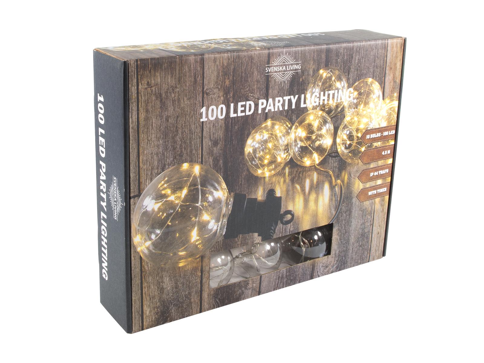 Partykette x10 LED warmweiß Kugel 3m 50cm