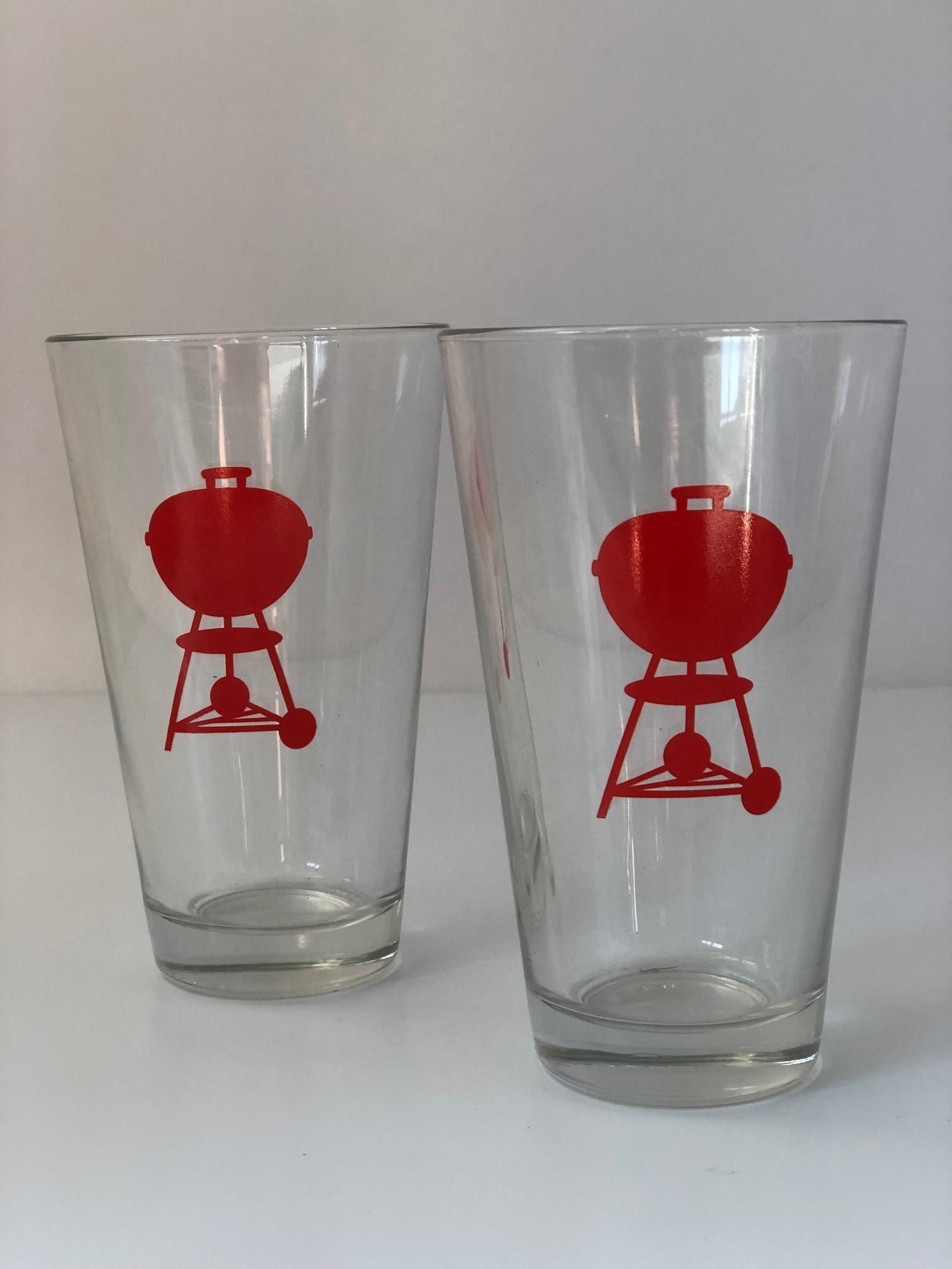 Weber Bier Glas mit rotem Kettle-Logo, 1 Stk
