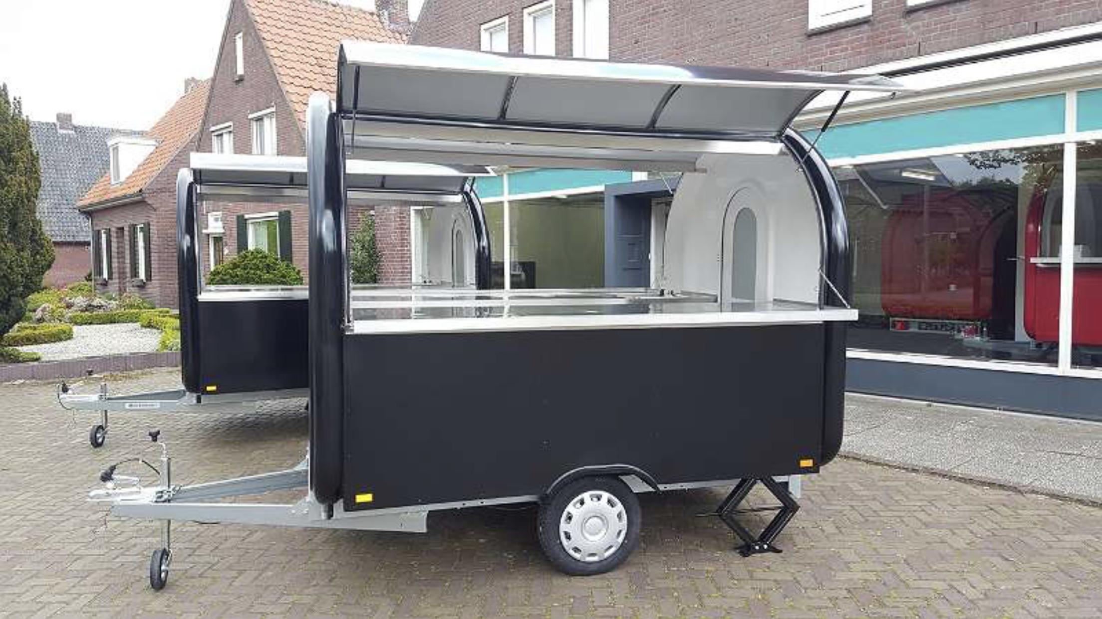Leih-Party-Foodtruck/ Gastro Verkaufswagen 2x Öffnungen