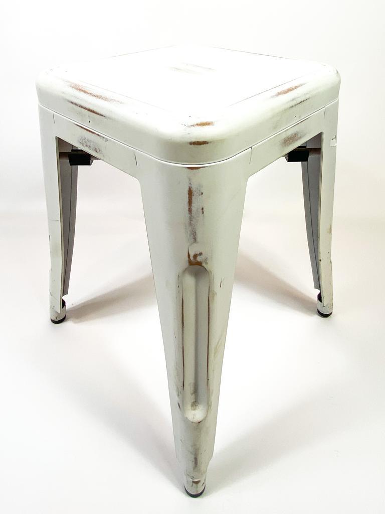 Leih-Vintage-Tolix-Metallhocker, ohne Lehne für Garten/Partys, Div. Farben