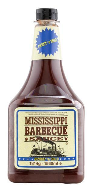 Mississippi BBQ Sauce Sweet'n Mild 1560ml