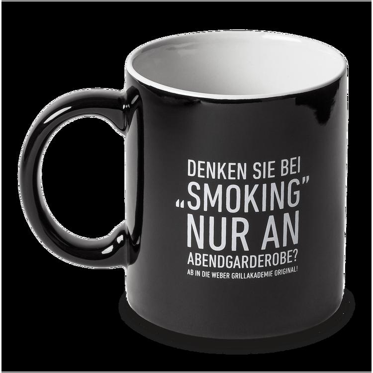 """Mug black """"Denken Sie bei Smoking…"""""""