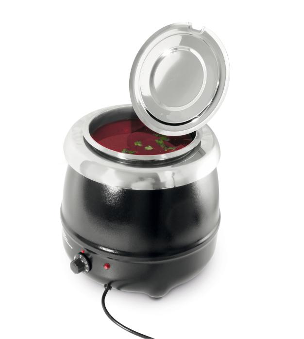 Leih-Hotpot für Suppen, Würstl oder Glühwein 2oL Einsatz, 230V, ohne Reinigung