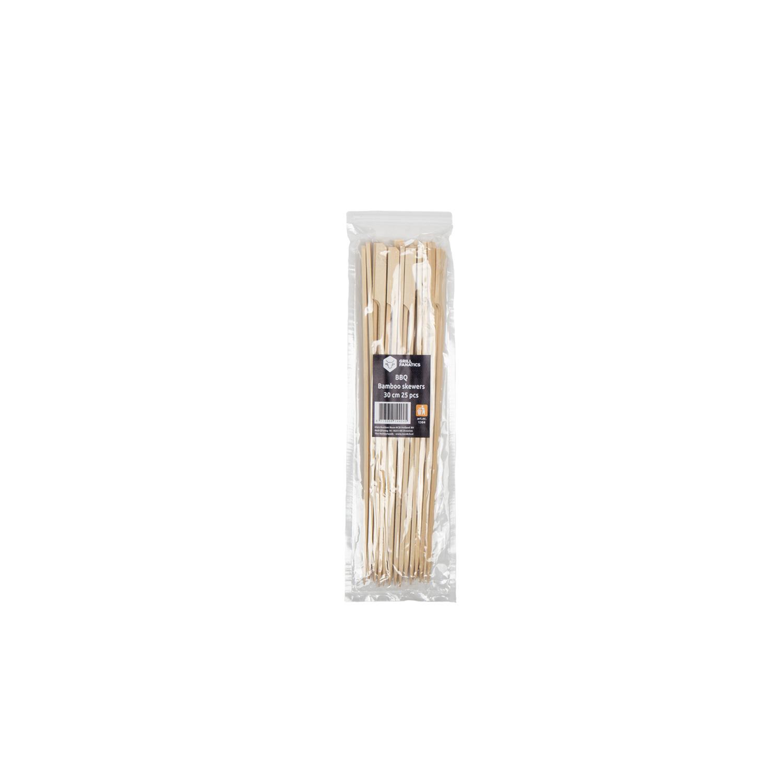 Bambus-Spieße mit Fähnchen 30 cm